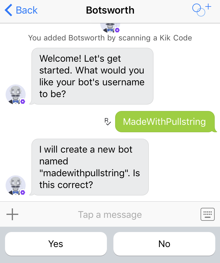 create kik username