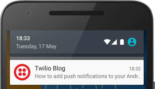 Notification on Android.