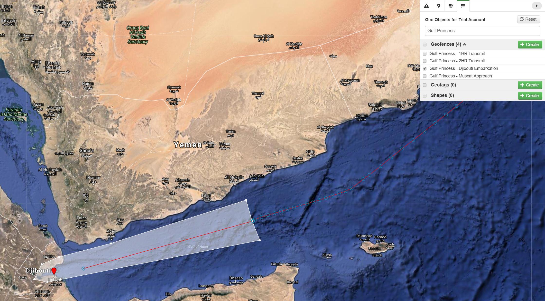 Embarkation from Djibouti