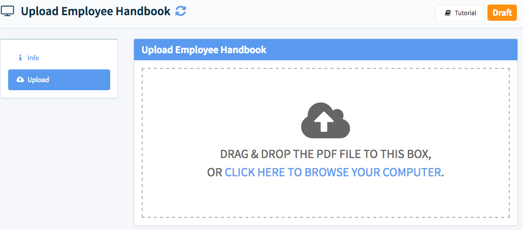 Now you will upload the PDF from your desktop.