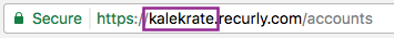 "You can find your Recurly subdomain by looking at the URL when logged into Recurly. In the example above, ""kalekrate"" is the subdomain. The Adyen URL for responses for this example customer would be https://callbacks.recurly.com/adyen/kalekrate"
