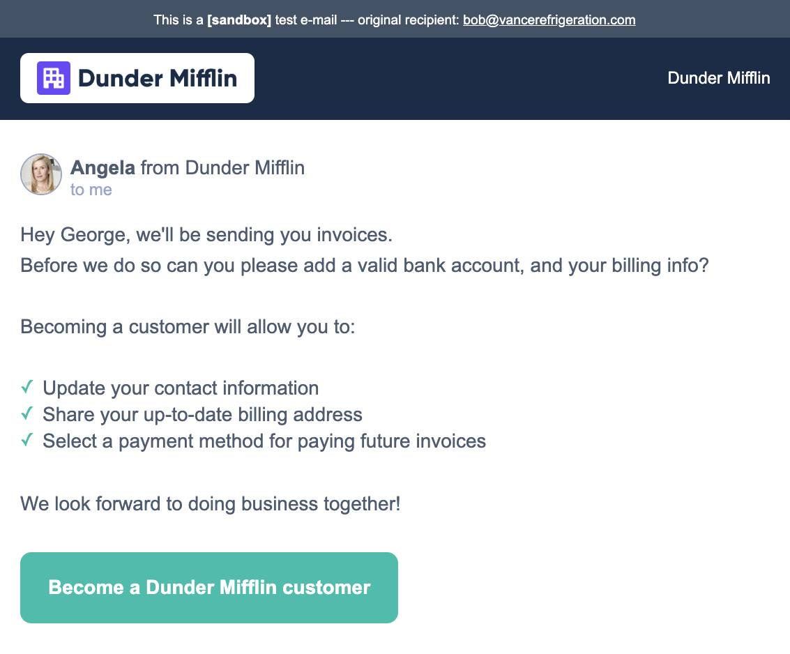 Sandbox Email with Header