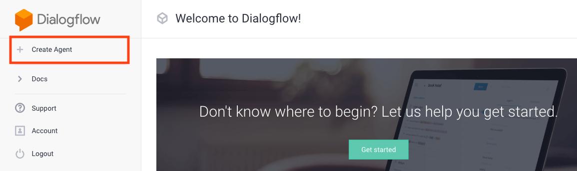 Creating new Dialogflow Agent