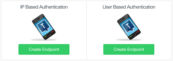 Select IP Based Authentication or User Based Authentication
