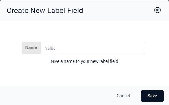 Create New Label Field