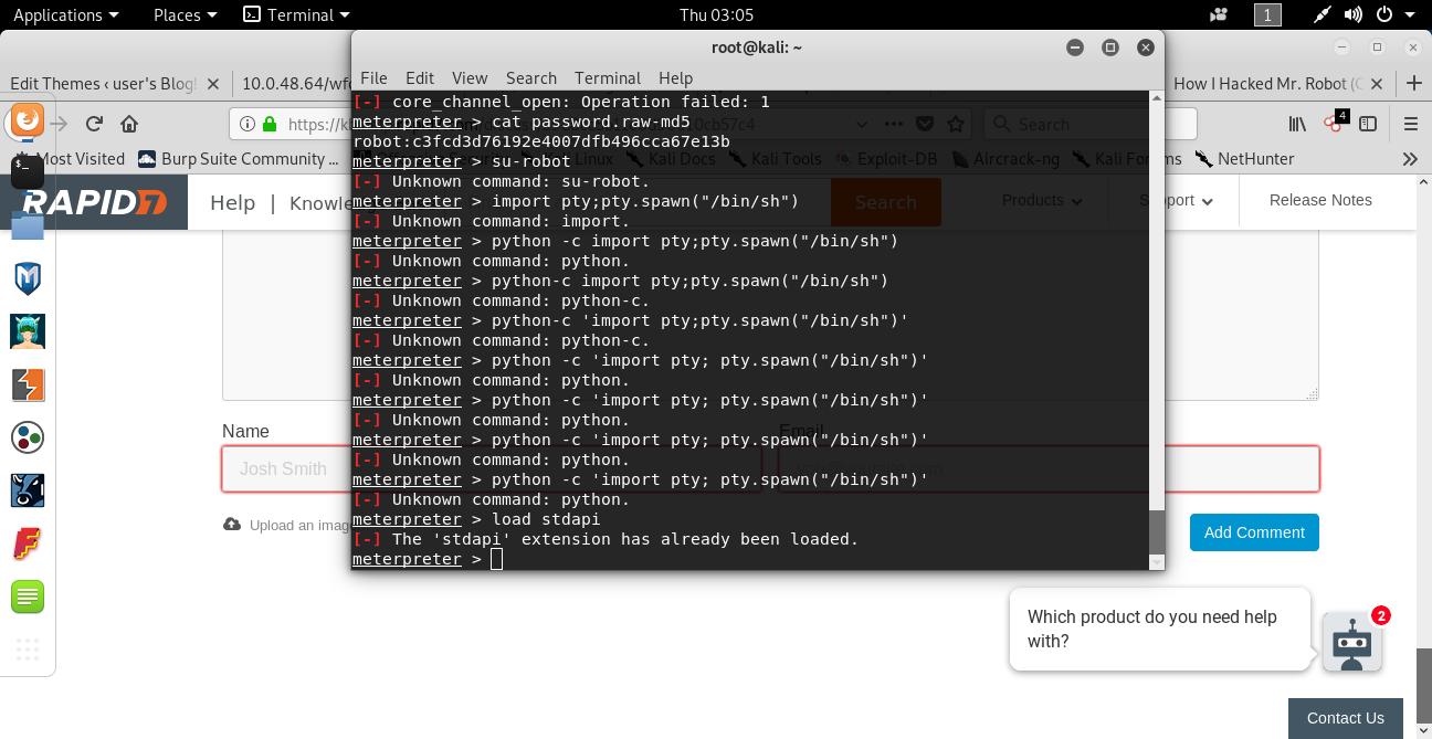 Meterpreter commands not working