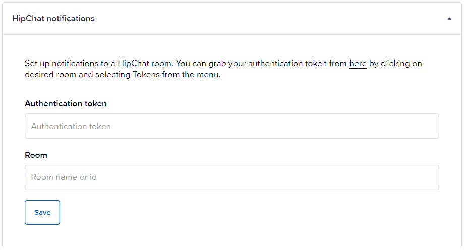 HipChat notifications panel
