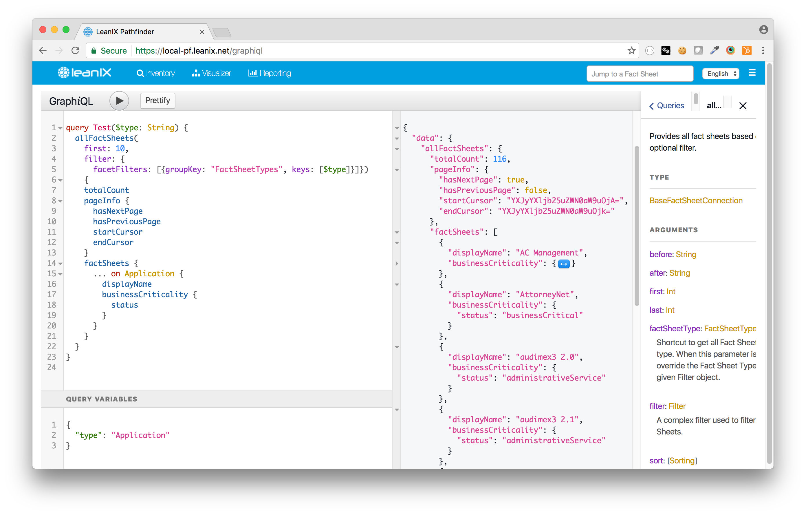 In-browser IDE for GraphQL