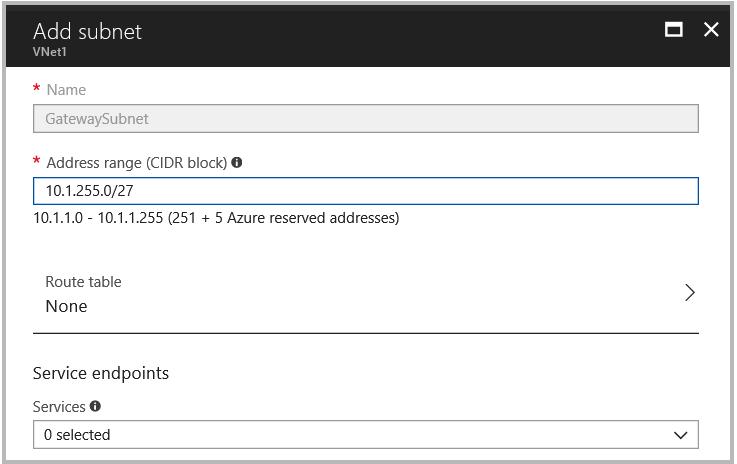 Azure - Site-to-Site IPSEC