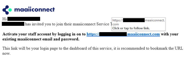Hovering on a link reveals the destination URL