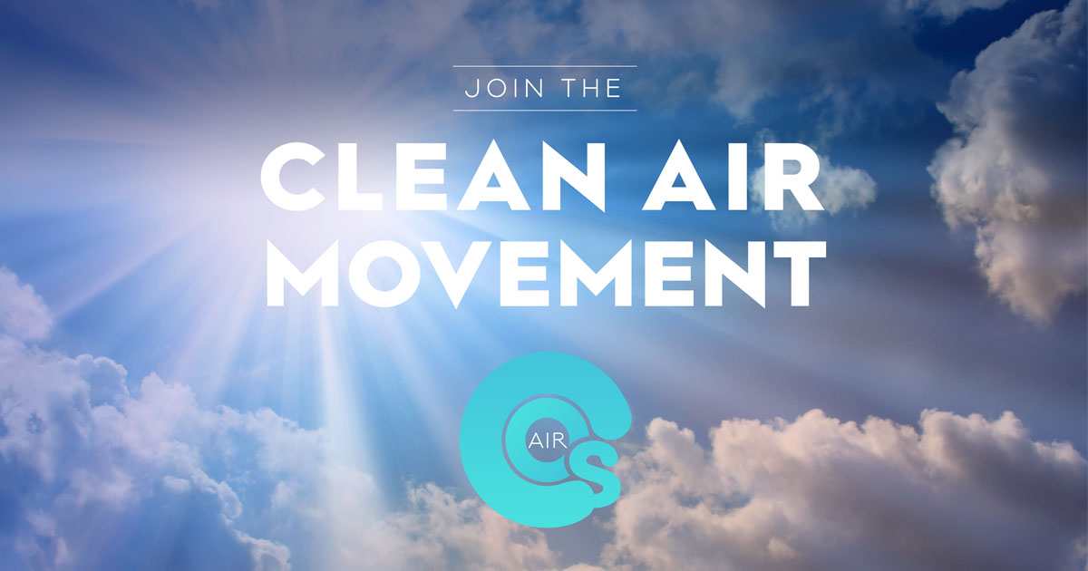 Join the clean air movement!  What gets measured gets improved!