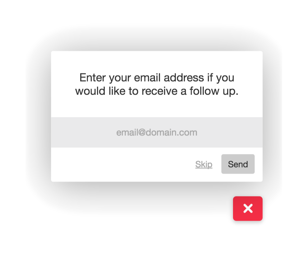 Prompt your visitors giving feedback for their emails if you want to be able to contact them directly.