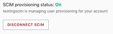 The Disconnect SCIM option.