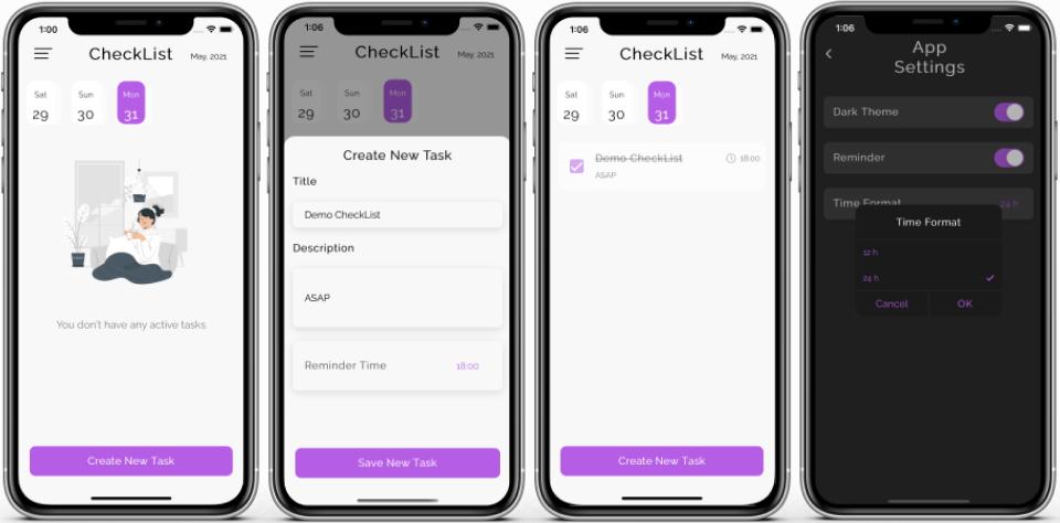 *CheckList App* installed on an iOS device