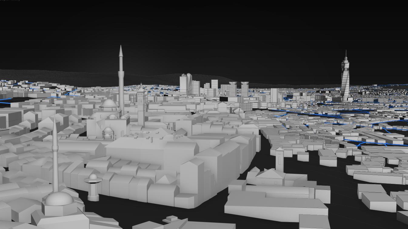 City of Sarajevo 3D rendering