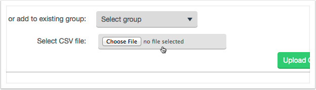 Click the 'Choose' button to find your CSV file