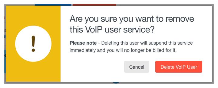 Click 'Delete VoIP User