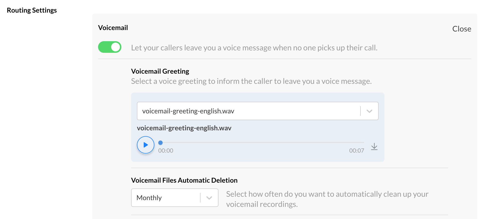 Enable Voicemail