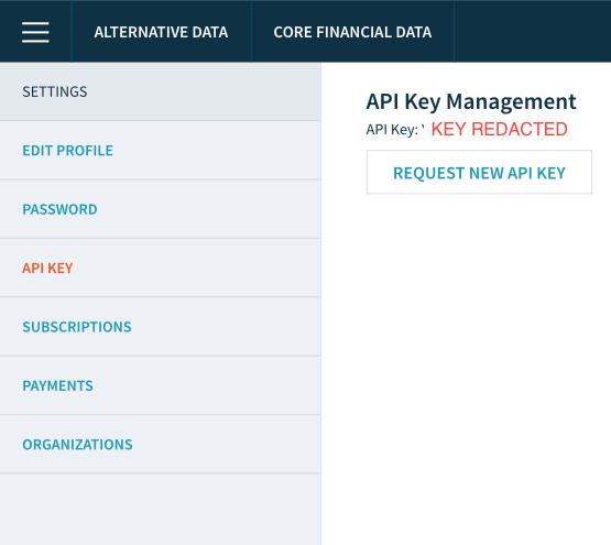 Copy Quandl API Key