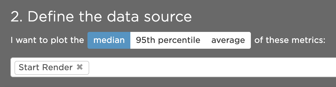 Defining a metric