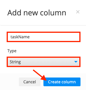 Create taskName collection