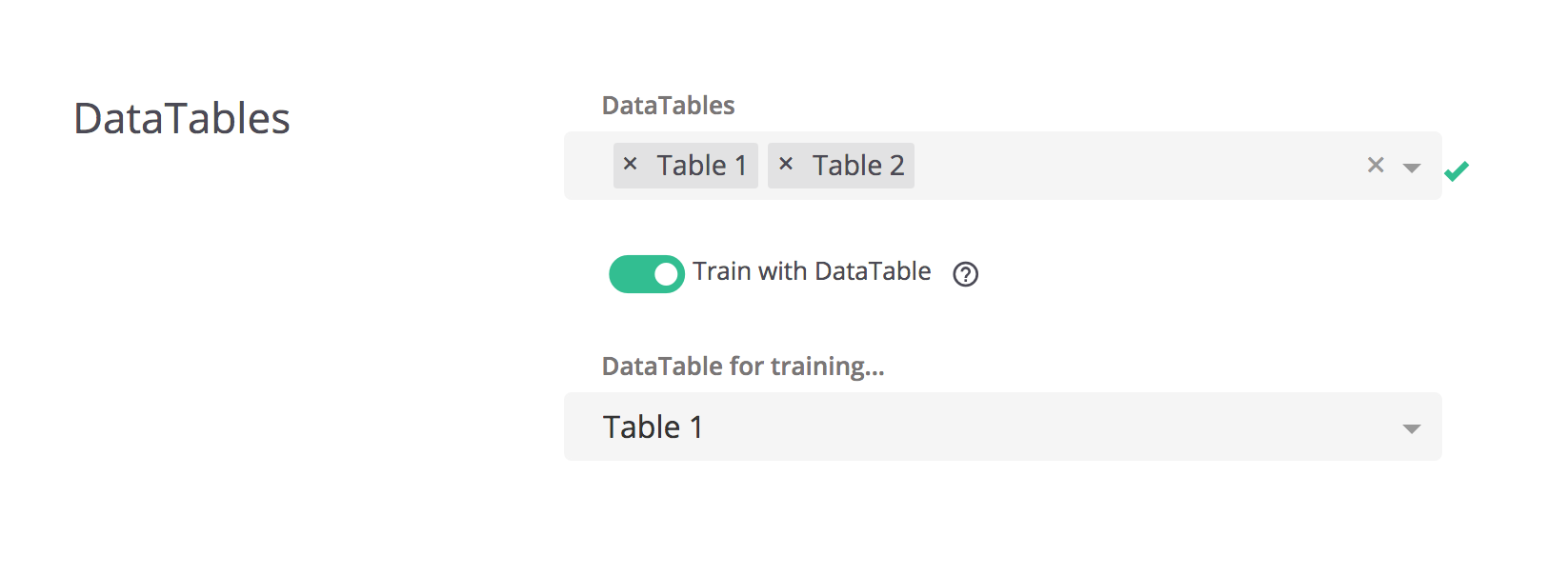 Associating and running journeys with a DataTable