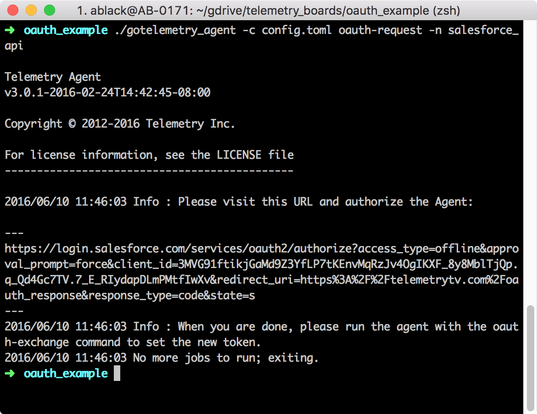 oAuth · TelemetryTV API Docs