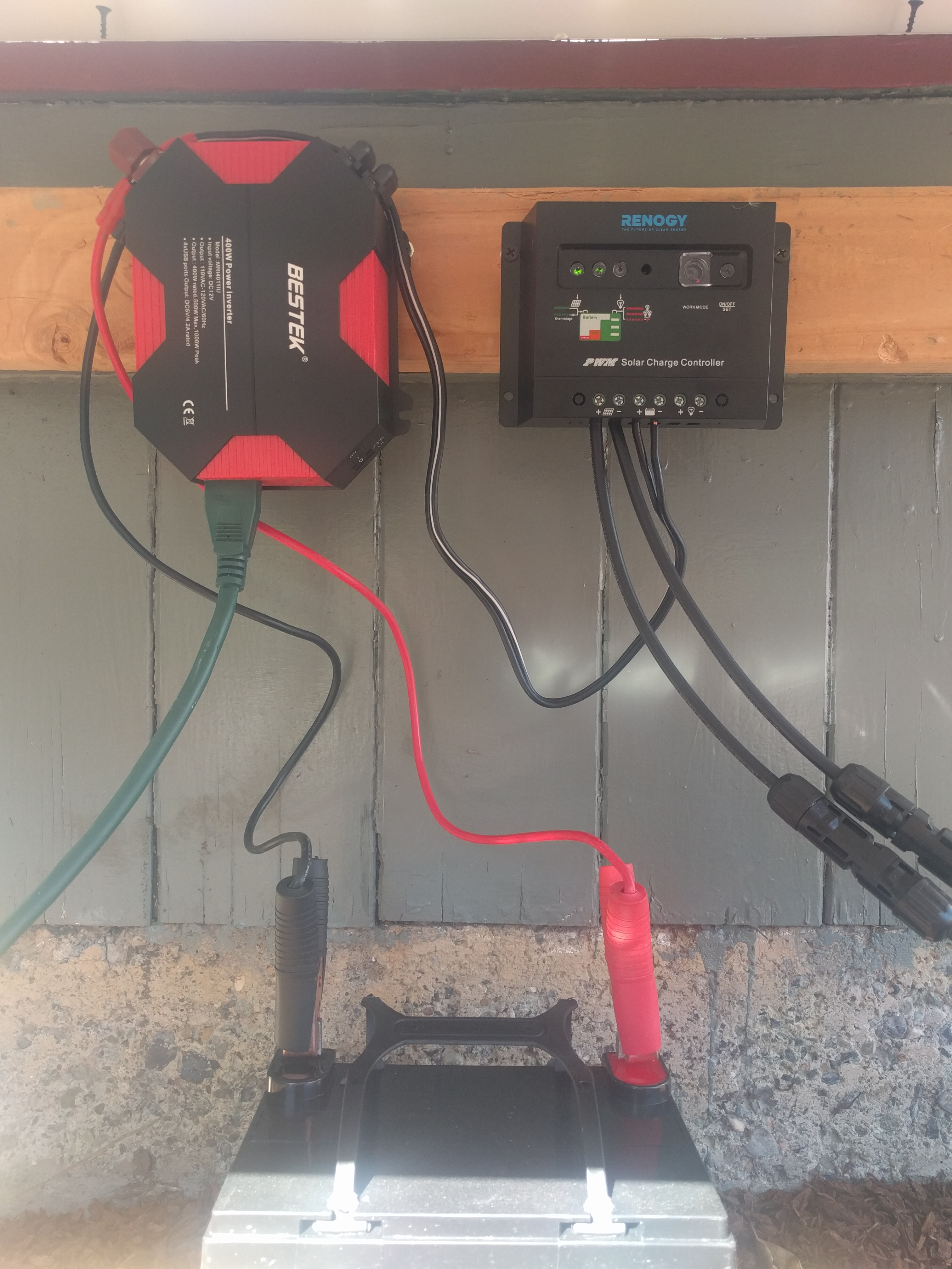 Solar panel hook up instructions