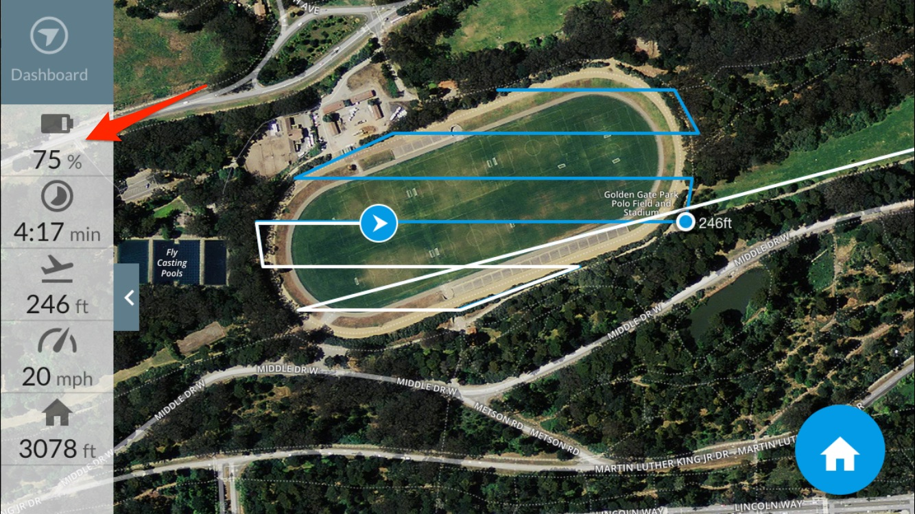 Mapping Large Areas with DJI