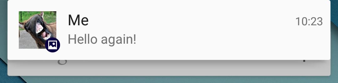 [Screenshot 6] Single message notification style