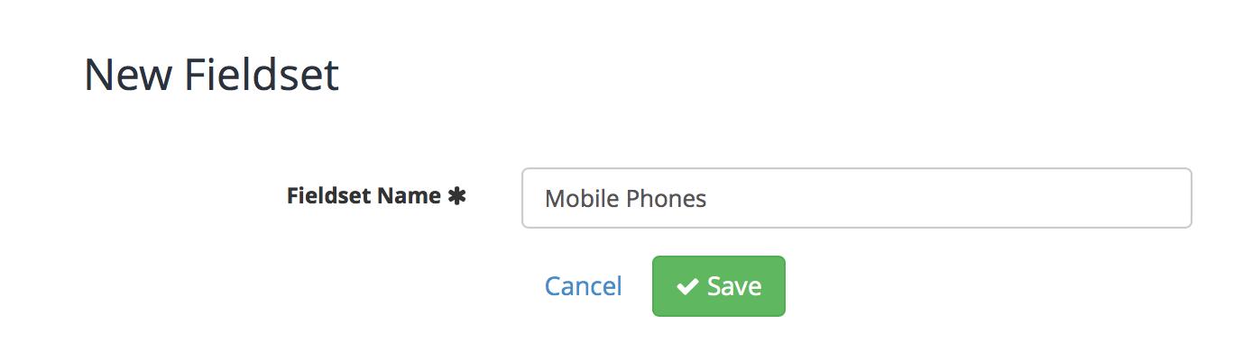 Mobile phones fieldset