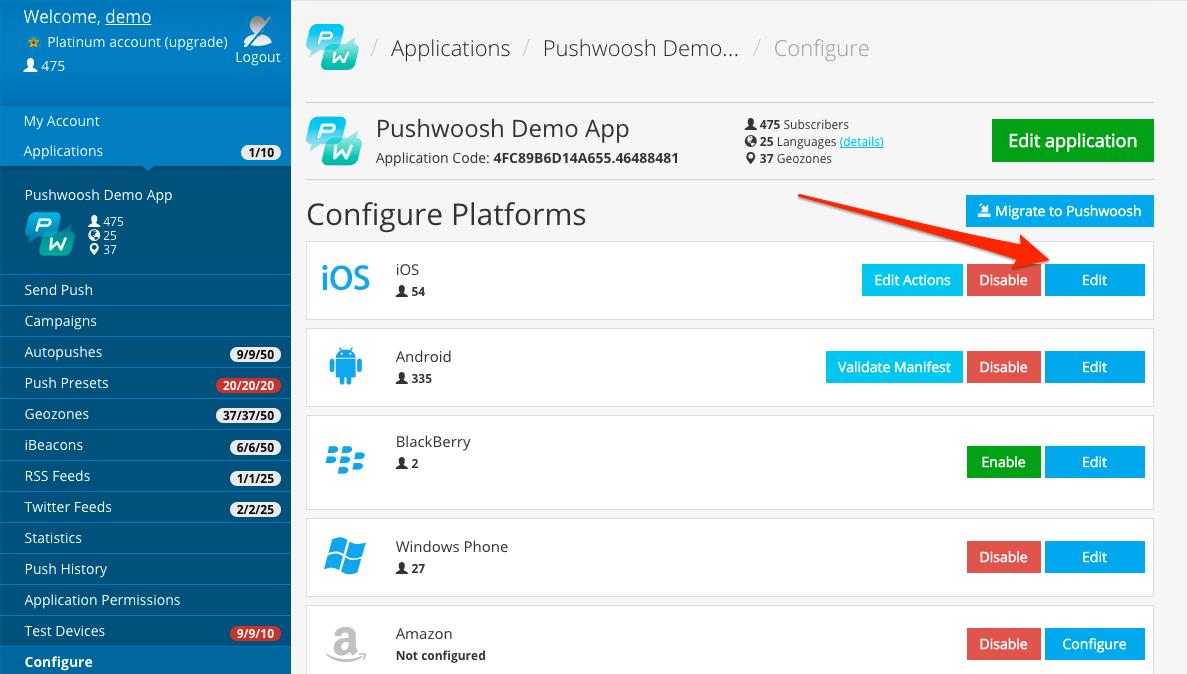 Figure 15. App Configuration Page