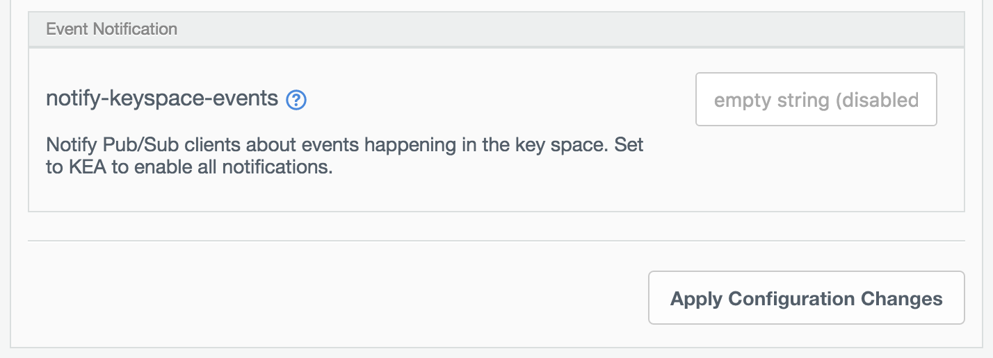 Set notifications for events.