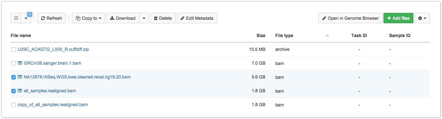Interactive Analysis tab
