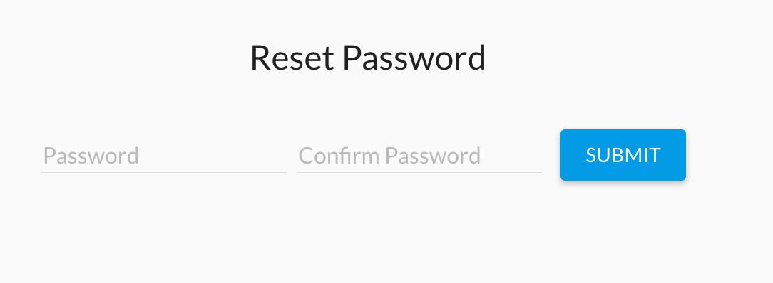 Password Reset Laravel Angular Material Starter