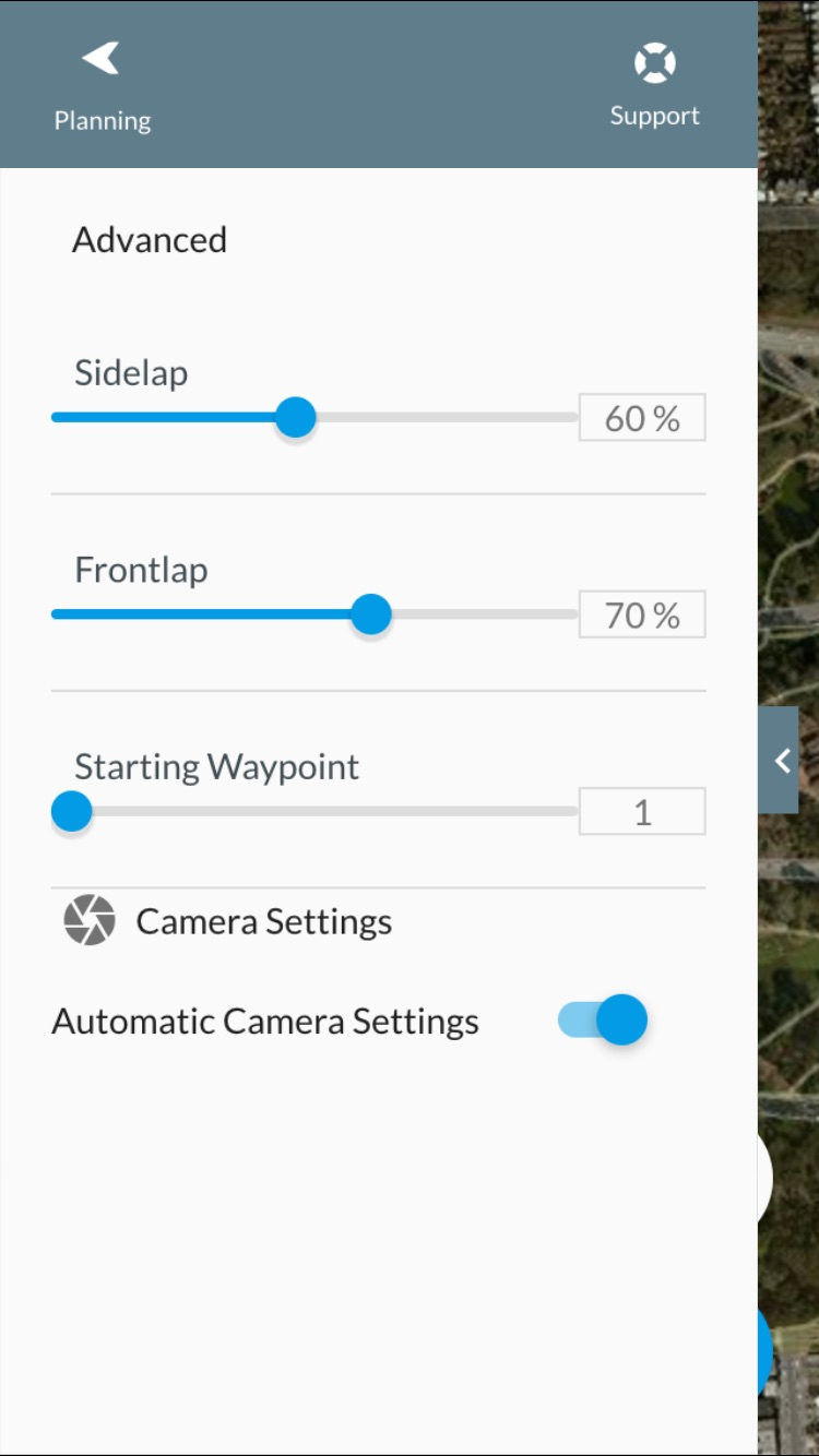 The advanced settings can be adjusted to help take better photos.