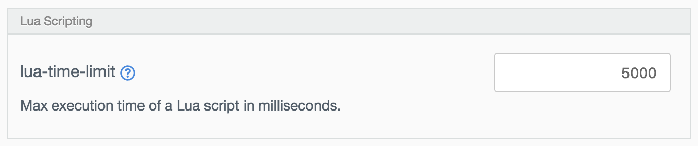 Lua Scripting settings.