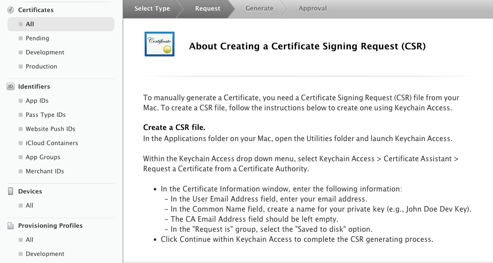 Figure 12: Certificate  Signing Request