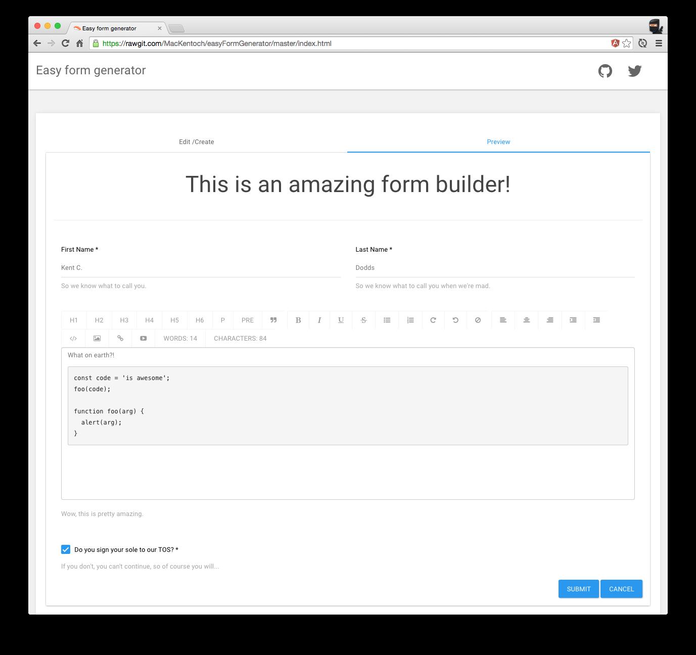 GUI Form Builders · angular-formly