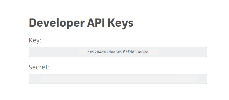 Trello API keys