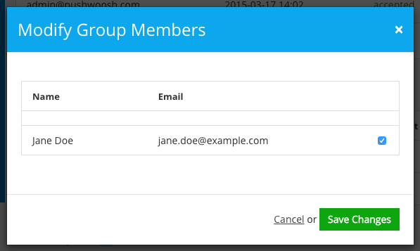 Figure 5. Adding Users to the Group