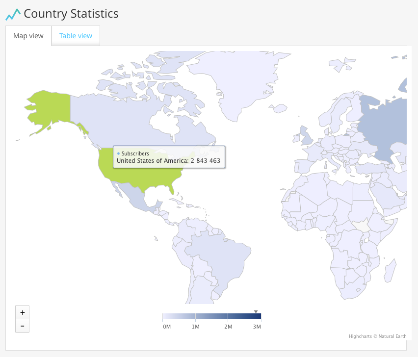 Country Tag Stats Map